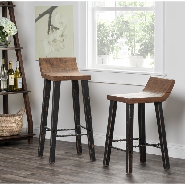Kosas Home Tam Low Back 30 Inch Bar Stool 15997773 Overstock inside Low Bar Stools