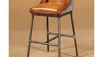 Leather Bar Stools Bar Stools And Metal Pipe On Pinterest throughout Bar Stools Leather