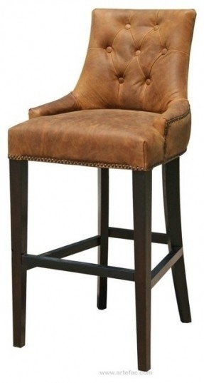 Leather Top Grain Bar Stools Foter with regard to Brown Leather Bar Stools