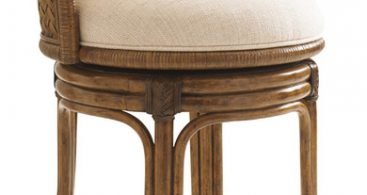 Lexington Bali Hai Kamala Bay Swivel Stool Counter Height with Tropical Bar Stools