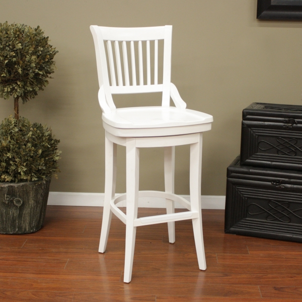 Liberty Antique White within White Bar Stools With Backs