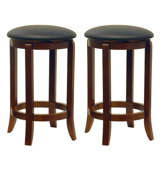 Linon 02728smtl 01 Kd U Metal And Wood Counter Stool 24 Inch for bar stools 24 inch swivel intended for Your home