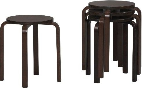 Linon 1771weng 04 As U Bentwood Short Stacking Counterbar Stool within Linon Bar Stools