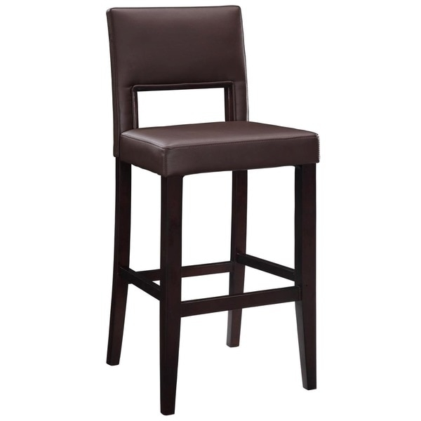 Linon 30 Inch Espresso Wood Bar Stool 16554659 Overstock for Linon Bar Stools