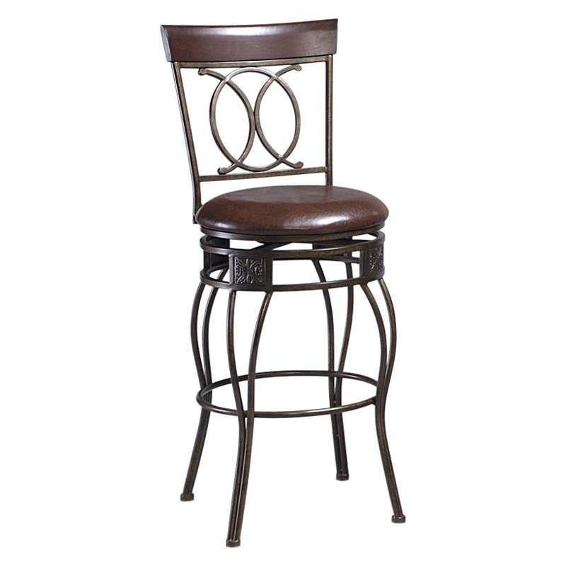 Linon O Amp X Back Metal Swivel Counter Stool Bar Stools At Hayneedle within Linon Bar Stools