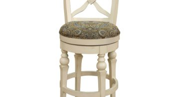 Livingston Collection Antique White Bar Stool With Blue Brown pertaining to The Most Amazing  antique white bar stools for Wish
