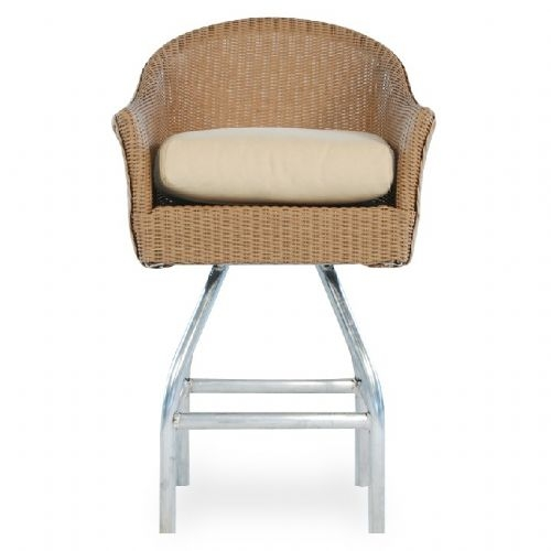 Lloyd Flanders Replacement Cushions Wicker Bar Stools Collection regarding Wicker Swivel Bar Stools