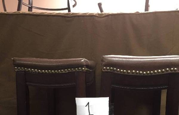 Lot Of 2 Linon Allure Bar Stools Brown Kx Real Deals General pertaining to Incredible in addition to Attractive linon bar stools pertaining to Cozy