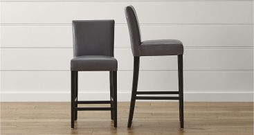 Lowe Smoke Leather Bar Stools Crate And Barrel inside bar stools leather with regard to  Household