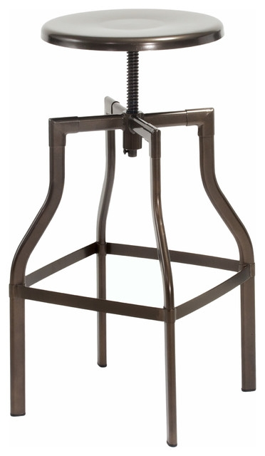 Lucci Steel Swivel Stool Industrial Bar Stools And Counter pertaining to Bronze Bar Stools