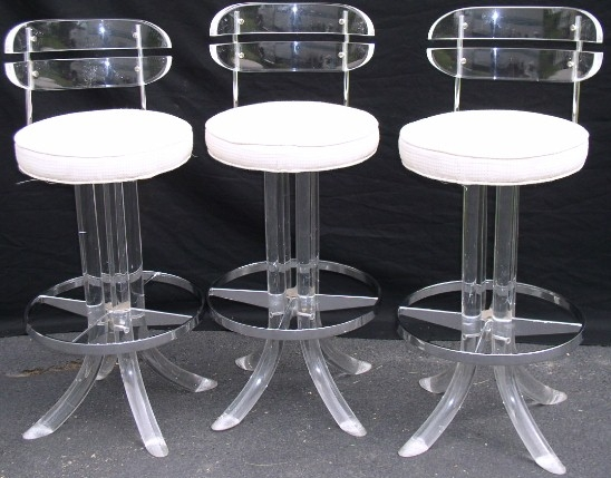 Lucite And Chrome Bar Stools Brass Lantern Antiques in The Brilliant and Attractive lucite bar stool with regard to Encourage