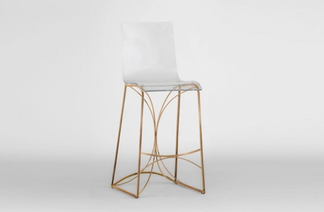 Lucite Bar Stool Gold Amp Clear Acrylic Angela Gab intended for lucite bar stools pertaining to Residence