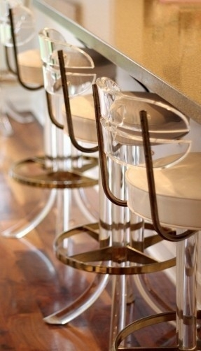 Lucite Bar Stools Foter throughout Lucite Bar Stools