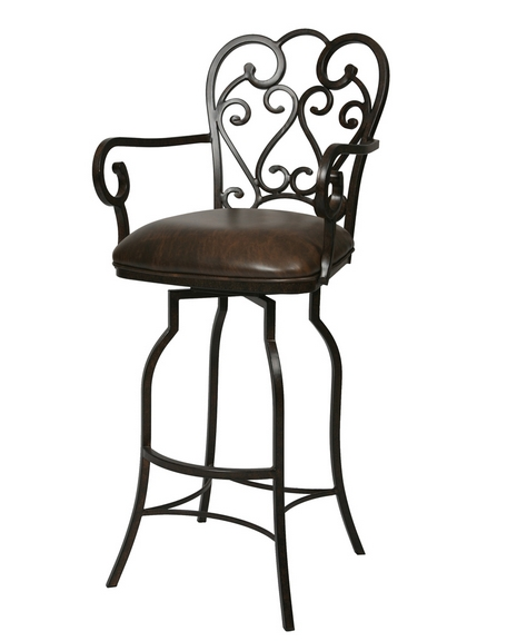 Magnolia Swivel Extra Tall Bar Stool With Arms 34quot Pastel inside Extra Tall Bar Stools