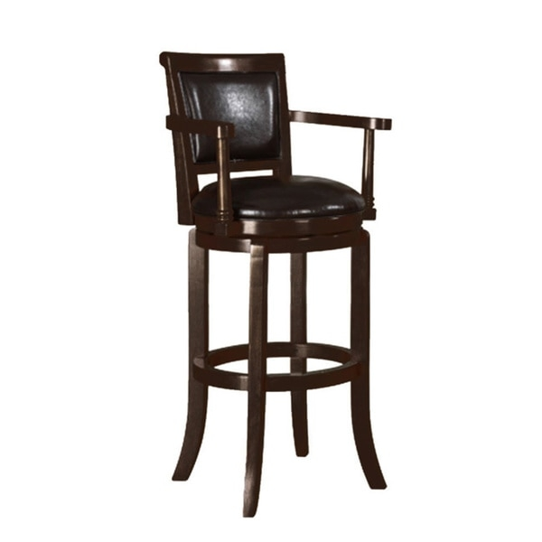 Manchester Espresso Finish 30 Inch Swivel Bar Stool 16379165 throughout Manchester Swivel Bar Stool