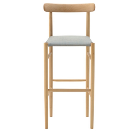 Maruni Lightwood Barstool High Cushioned Cite pertaining to light wood bar stools intended for Your property