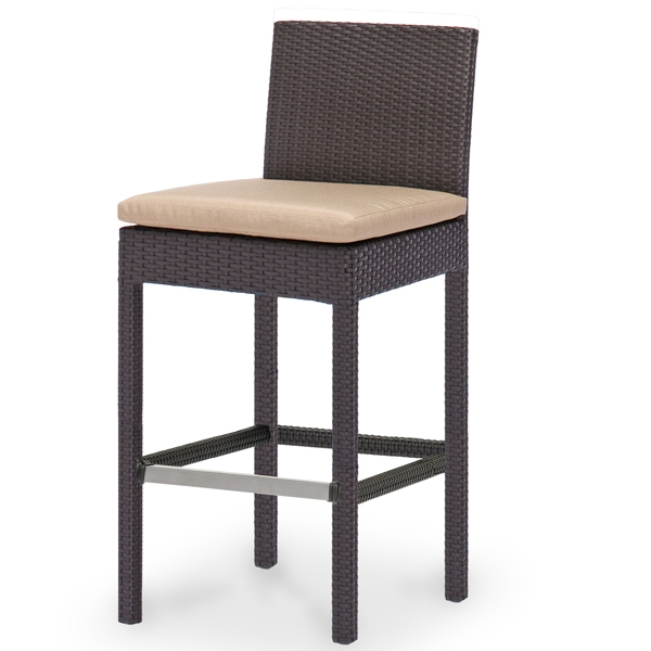 Maxime All Weather Wicker Outdoor Bar Stool with Outdoor Wicker Bar Stools