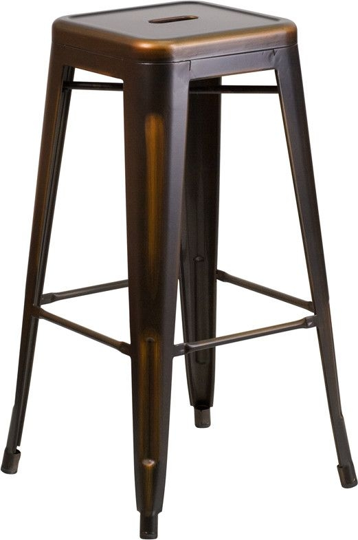 Metal Bar Stools Copper Metal And Bar Stools On Pinterest in Brilliant in addition to Interesting vintage metal bar stools regarding Home