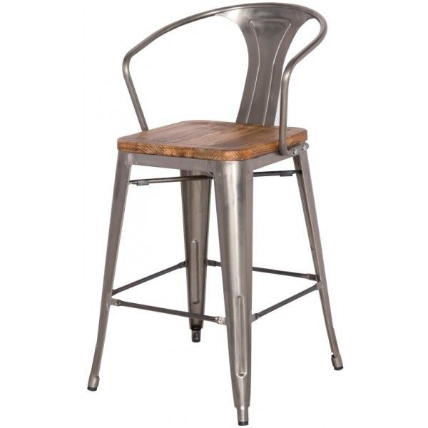Metal Bar Stools With Back And Arms My Blog pertaining to metal counter height bar stools regarding Your property