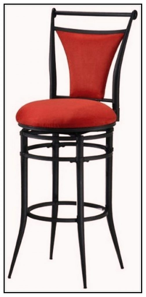 Metal Cut Out Bar Stool 32 Black Natural And Burgundy Walmart Com pertaining to 32 Inch Swivel Bar Stools