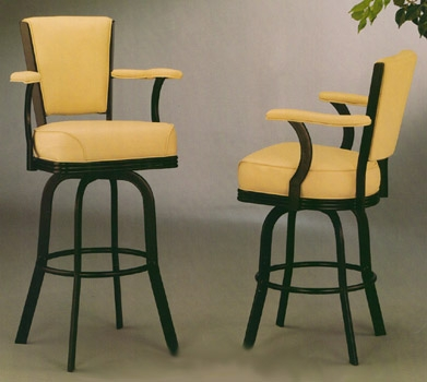Metal Swivel Bar Stools With Back And Arms Home Bar Design pertaining to Metal Swivel Bar Stools With Back