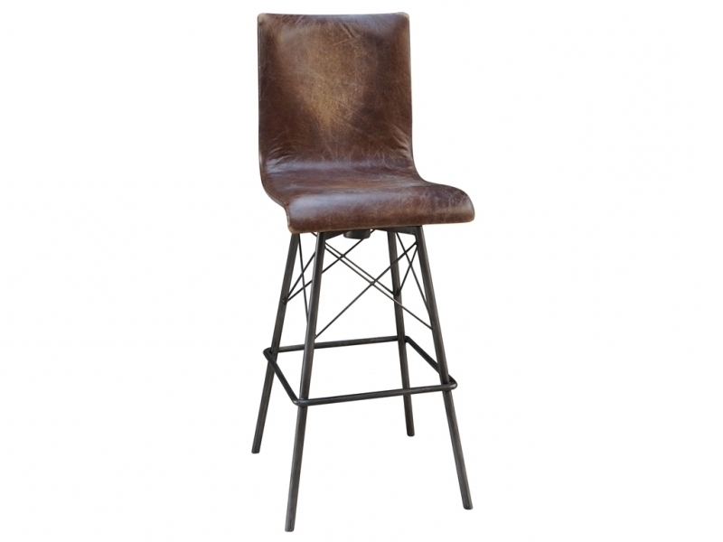 Metal Swivel Bar Stools With Back Archives Bar Stools Dream pertaining to Leather Bar Stools With Back