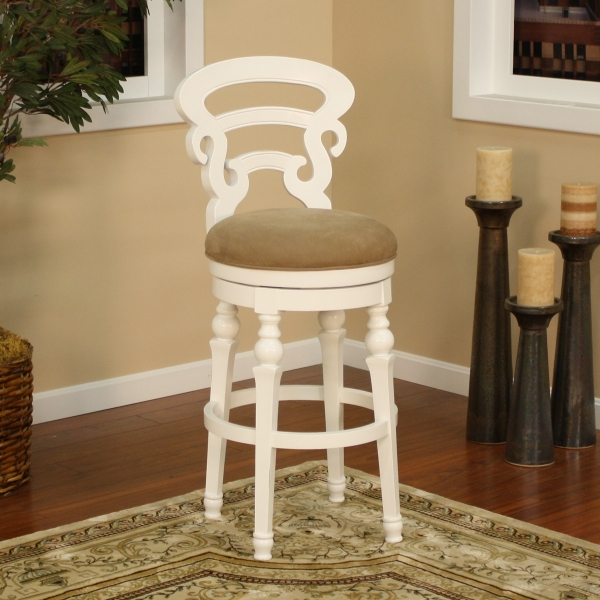 Metropolitan Antique White Bar Stool American Heritage with regard to Antique White Bar Stools