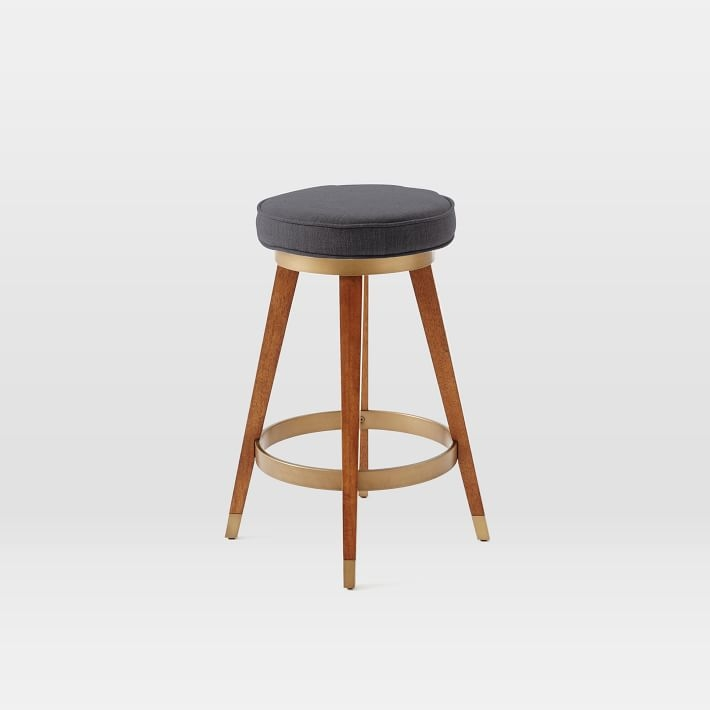 Mid Century Swivel Bar Counter Stool West Elm throughout The Stylish in addition to Gorgeous mid century bar stools for Inspire