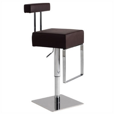 Milan Contemporary Bar Stool Espresso 2 Stools with Espresso Bar Stools