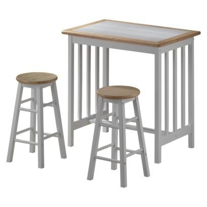 Mission Breakfast Bar With Stools Natural 105 Would Go With inside breakfast bar with stools for Property