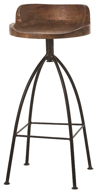 Missoula Industrial Loft Antique Wood Iron Swivel Counter Stool for Amazing  wooden swivel bar stools for Residence