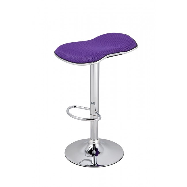 Modern Bar Stool In A Choice Of Pink Purple Blue Or White Chic intended for Purple Bar Stools