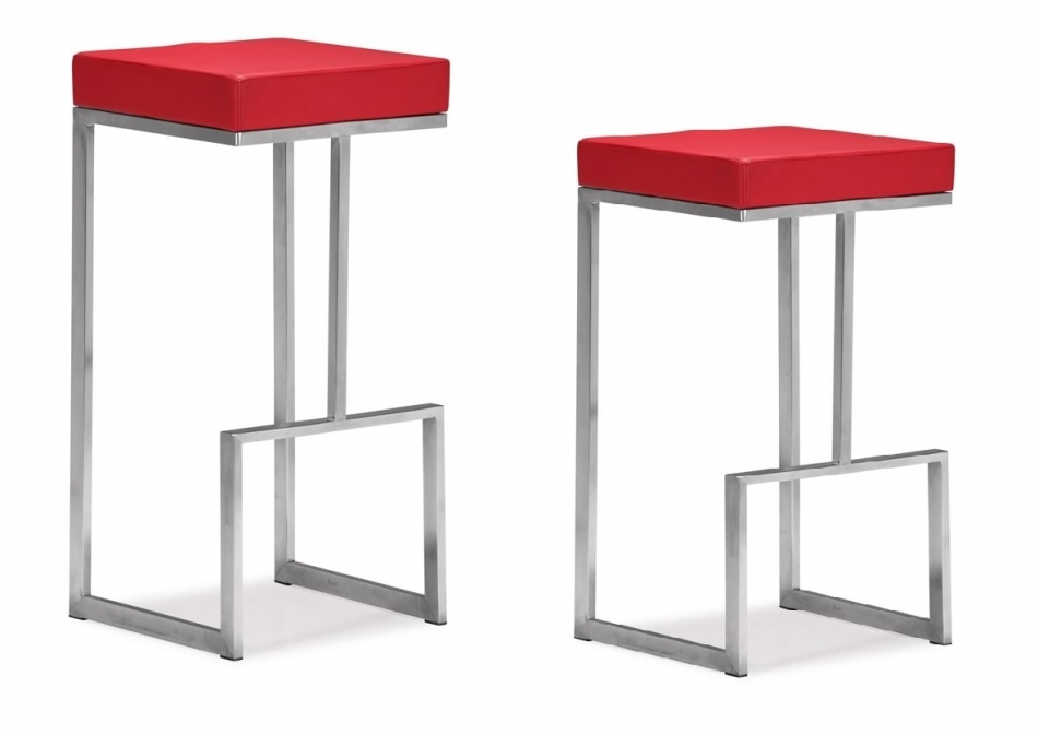 Modern Bar Stool Mz Darwen Red in The Stylish as well as Attractive modern bar stools regarding Home