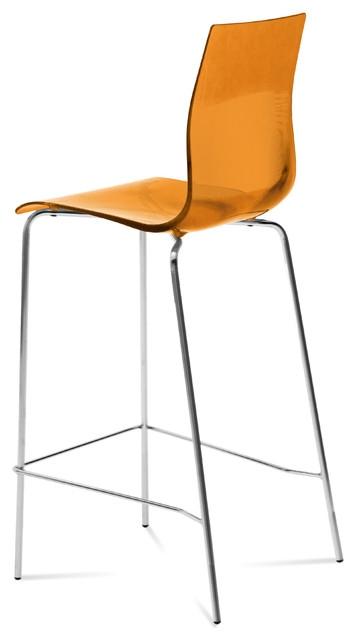 Modern Bar Stools And Counter Stools with The Brilliant in addition to Beautiful orange bar stool with regard to House