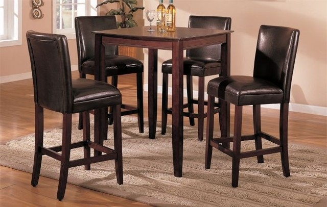 Modern Bar Tables And Chairs Home And Design Gallery intended for Bar Stool And Table Set