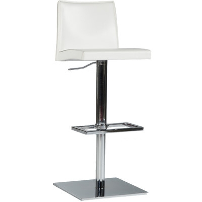 Modern Rio Adjustable Height Swivel Bar Stool Color Black Home inside Modern Swivel Bar Stools