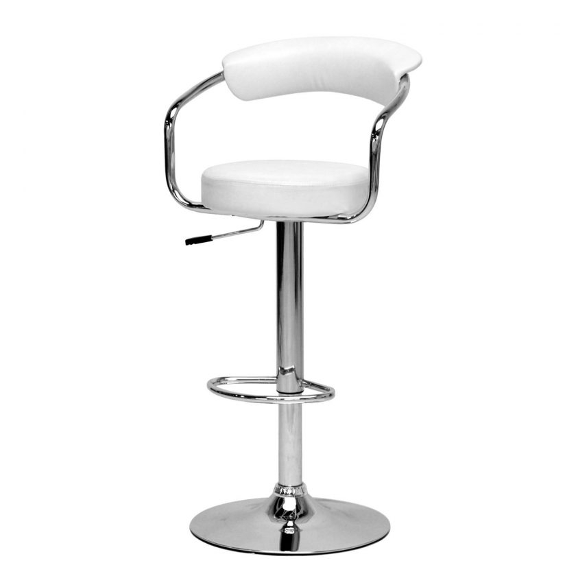 Modern Stainless Steel Adjustable Bar Stool With Footrest And inside Stainless Steel Swivel Bar Stools