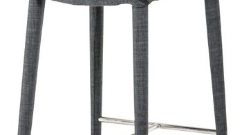 Modrest Williamette Modern Dark Grey Fabric Bar Stool pertaining to The Awesome  cloth bar stools intended for The house