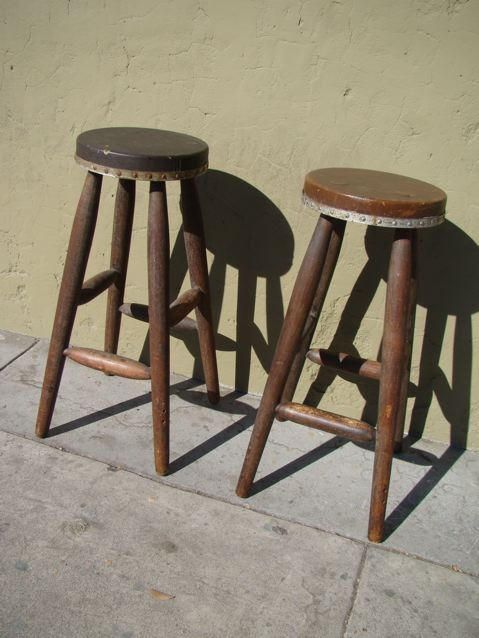 Monterey Old Wood Bar Stools Sold F310 Early California Antiques with regard to old bar stools pertaining to Found Property
