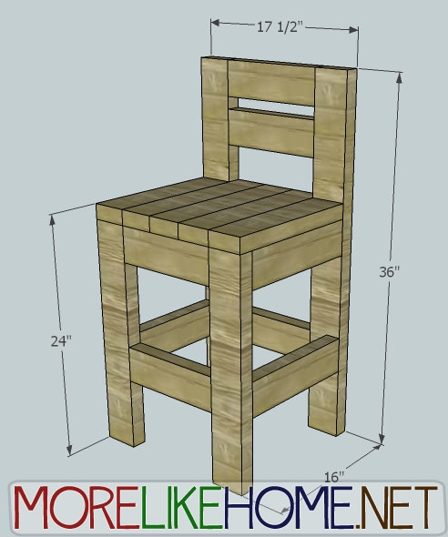 More Like Home Day 23 Build A Chunky Bar Stool pertaining to how to build a bar stool for The house