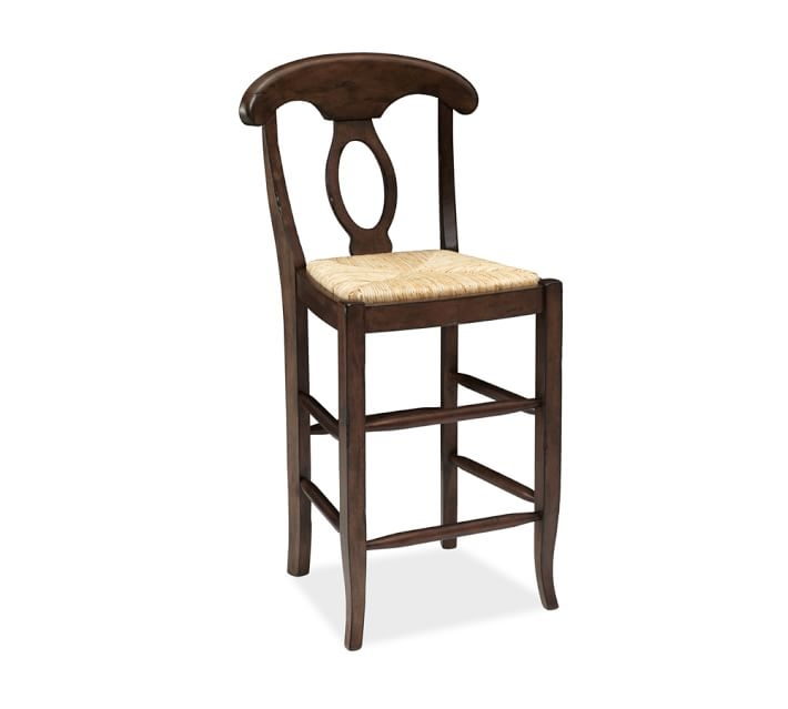 Napoleon Barstool Pottery Barn throughout rush seat bar stools pertaining to  Property