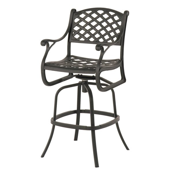 Newport Swivel Bar Stool within Aluminum Swivel Bar Stools