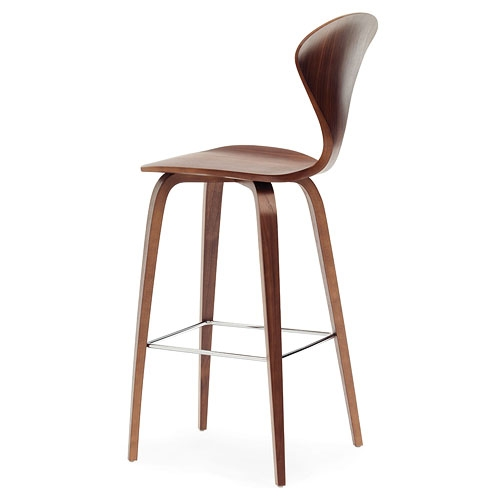 Norman Cherner Counter Bar Stool Wooden Base In Classic Walnut with The Awesome and also Lovely cherner bar stool regarding Home