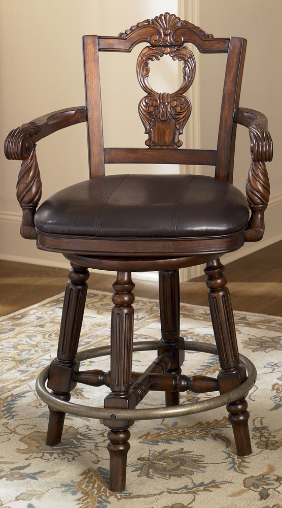North Shore 24 Inch Swivel Bar Stool From Millennium Ashley with Ashley Furniture Bar Stools