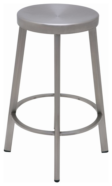 Nuevo Industry Counter Stool In Silver Bar Stools And Counter for Silver Bar Stools