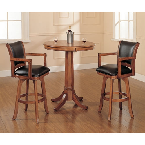 Oak And Leather Bar Stools Bellacor throughout 42 Inch Bar Stools