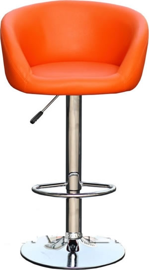 Orange Bar Stools Barbie24 within Orange Bar Stool