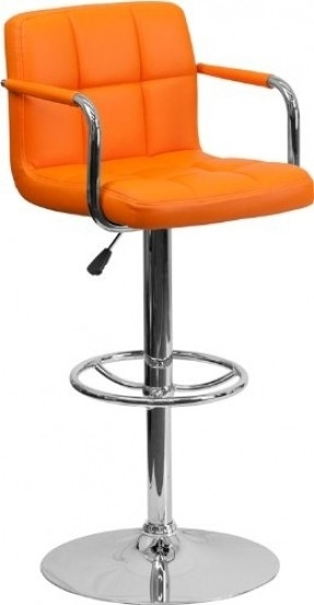 Orange Barstools Foter throughout The Brilliant in addition to Beautiful orange bar stool with regard to House