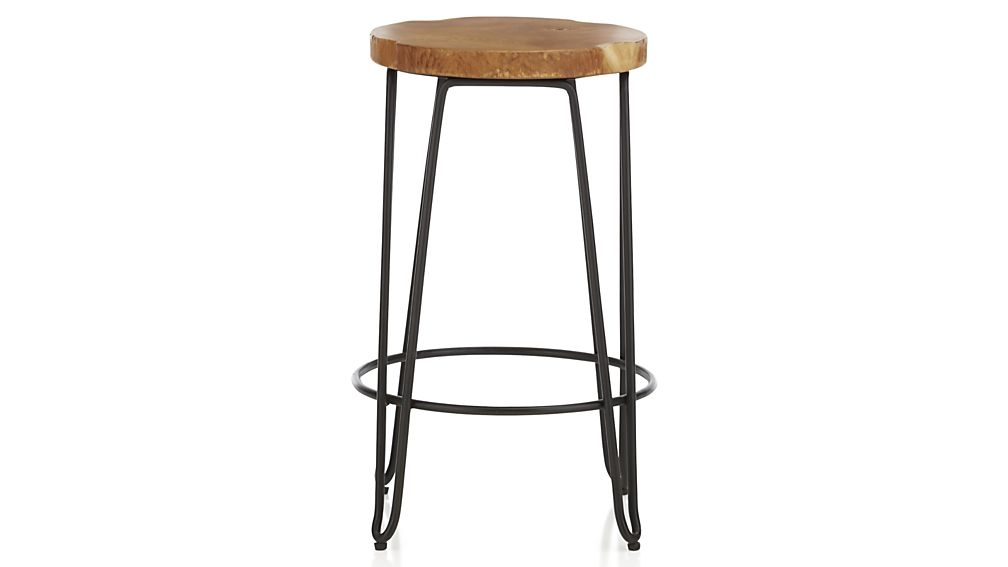 Origin Backless Bar Stools Crate And Barrel inside Brilliant  24 backless bar stools for  Property