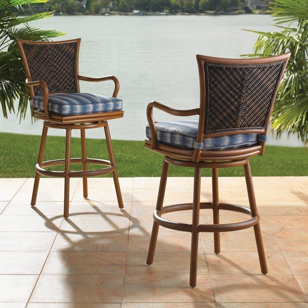 Outdoor Bar Stools Spice Up Your Outdoor Decor Inoutinterior with regard to swivel outdoor bar stools for Cozy